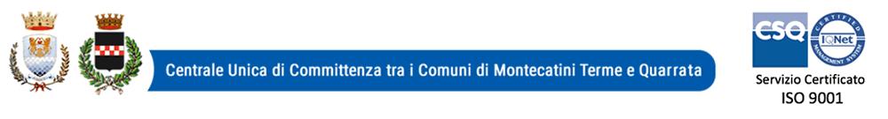 Centrale Unica di Committtenza tra i comuni di Quarrata e Montecatini Terme