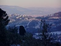 Immagine fotografica - Panorama di Quarrata con la neve